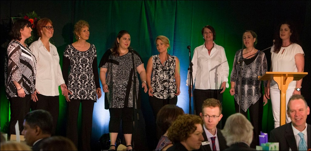 A Cappella 8 - Jo, Annette, Joanna, Luciana, Sloane, Annette, Bethan and Anke